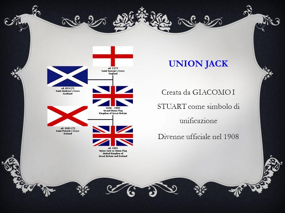 Creata da GIACOMO I STUART come simbolo di unificazione