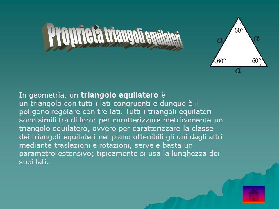 Proprietà triangoli equilateri