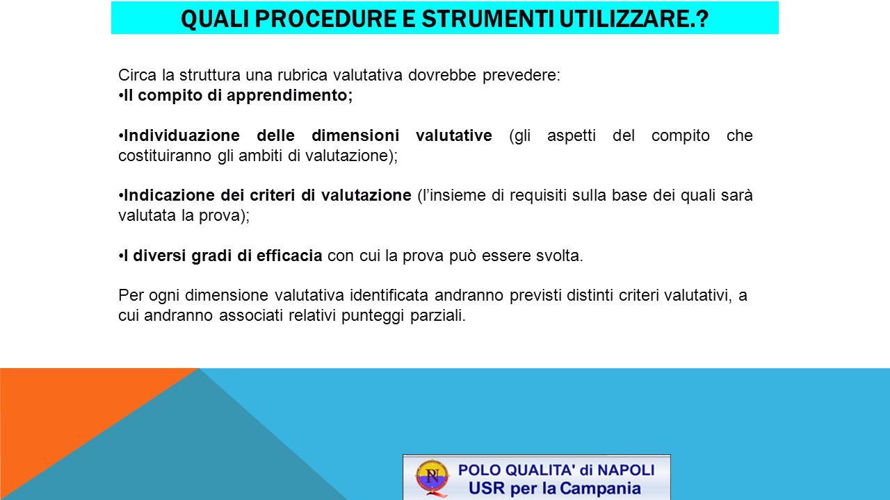 Quali procedure e strumenti utilizzare.