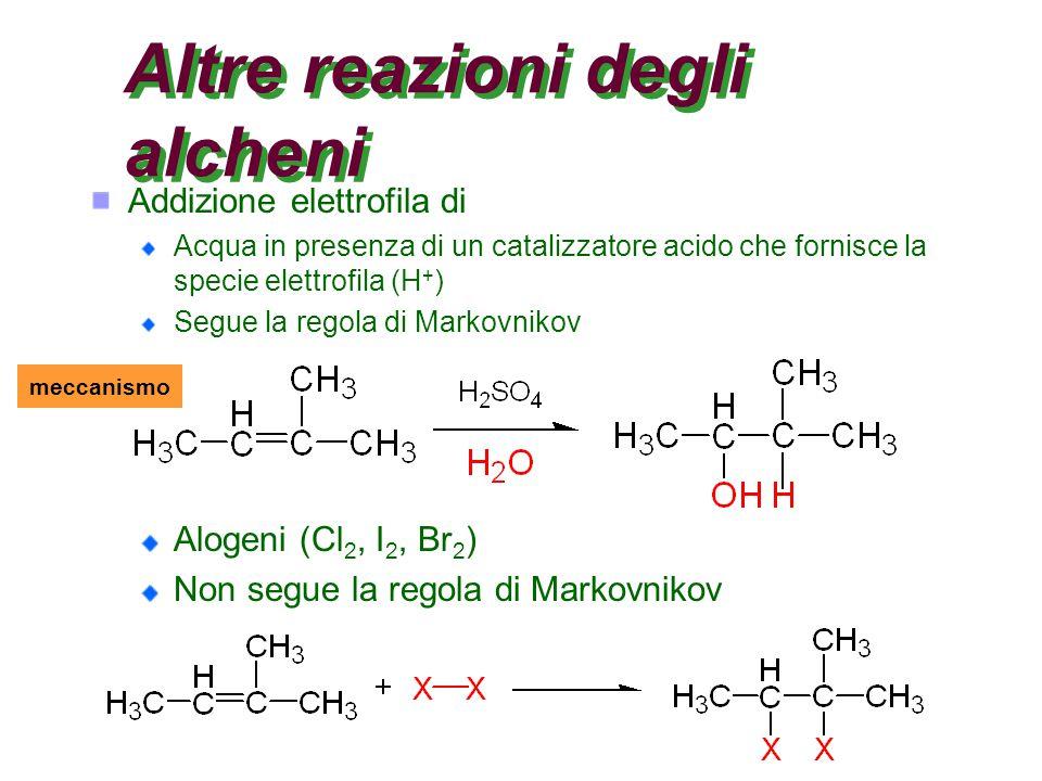 Altre reazioni degli alcheni