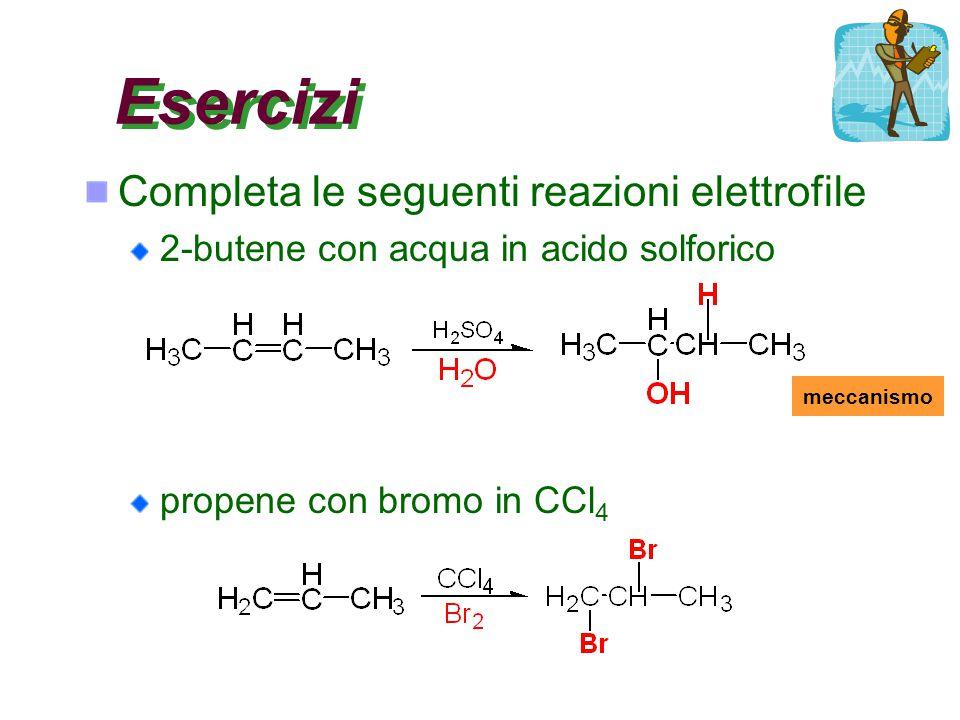 Esercizi Completa le seguenti reazioni elettrofile