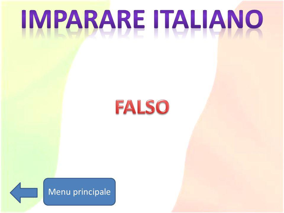 Imparare italiano FALSO Menu principale