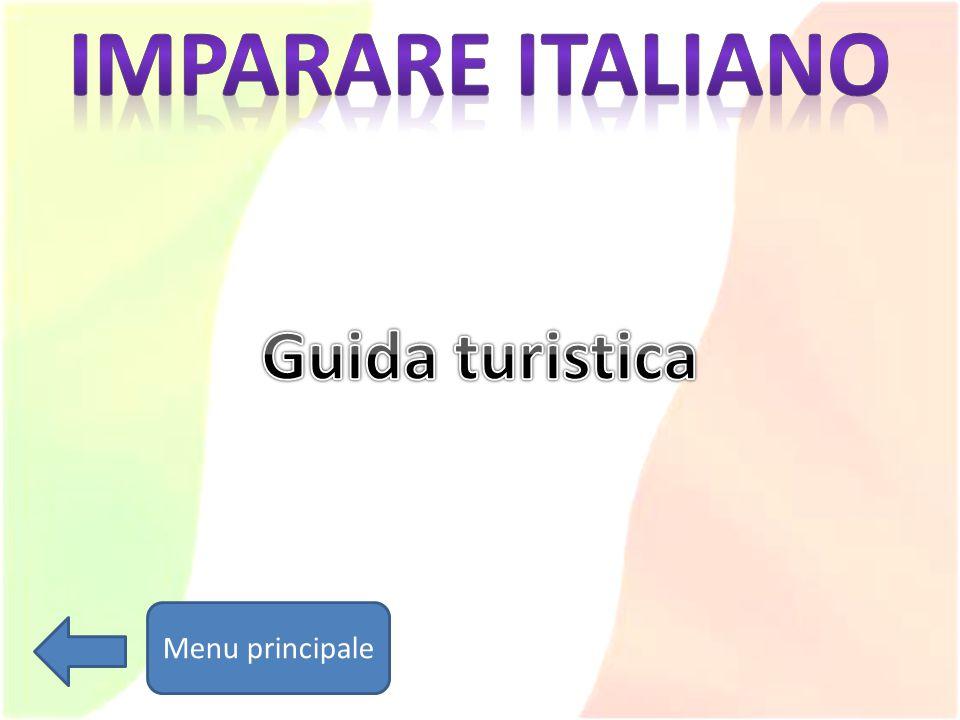 Imparare italiano Guida turistica Menu principale