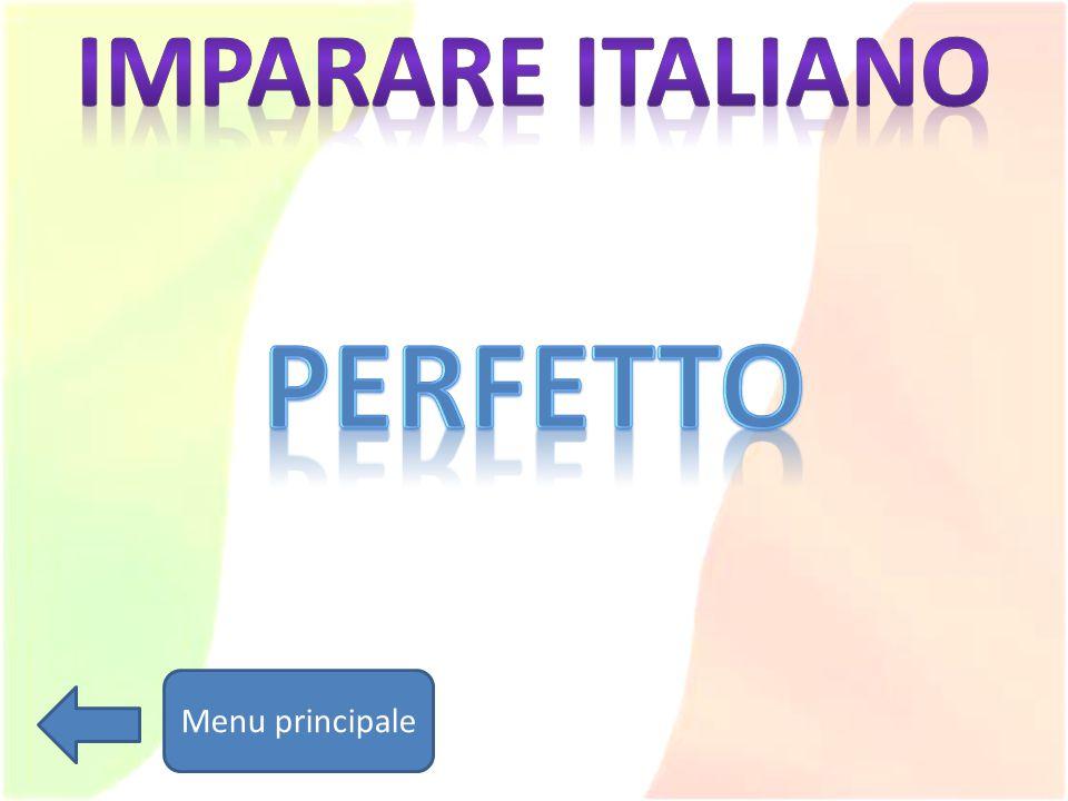 Imparare italiano PERFETTO Menu principale