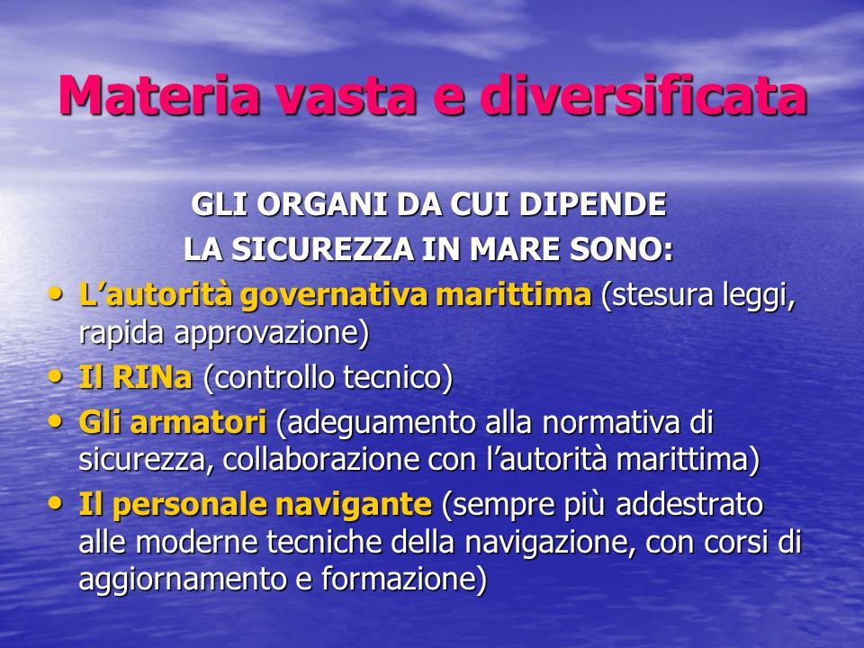 Materia vasta e diversificata