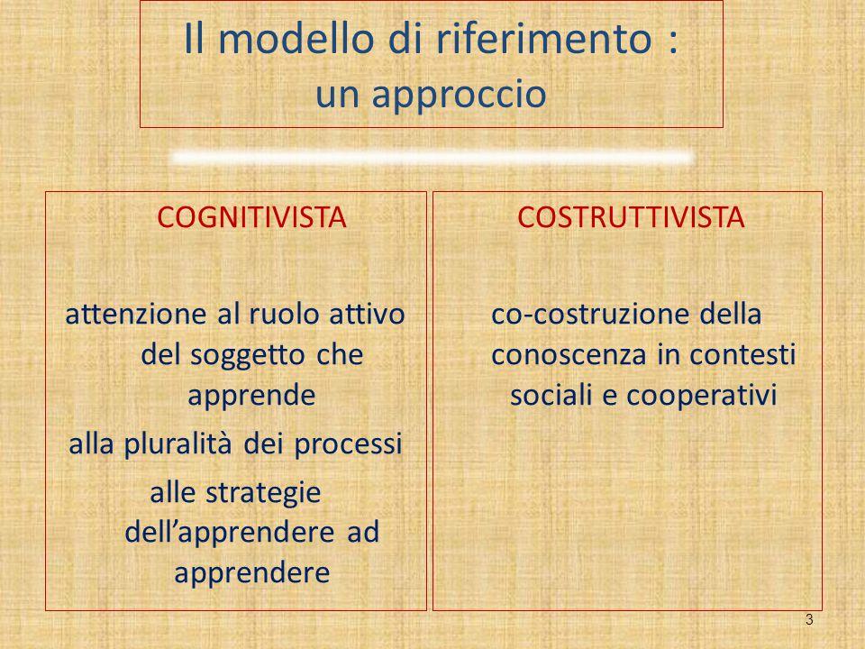 Il modello di riferimento : un approccio