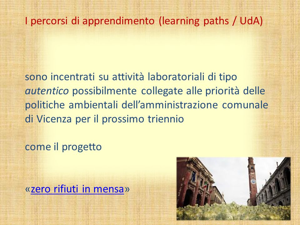 I percorsi di apprendimento (learning paths / UdA)