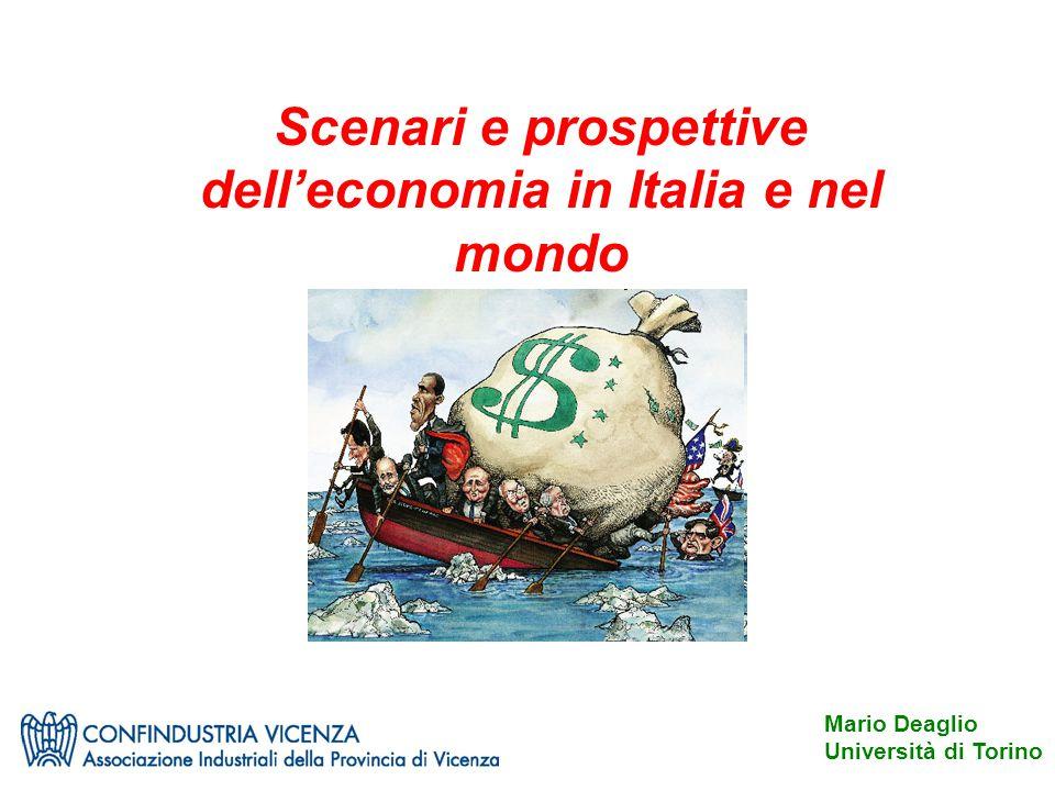 Scenari e prospettive dell'economia in Italia e nel mondo