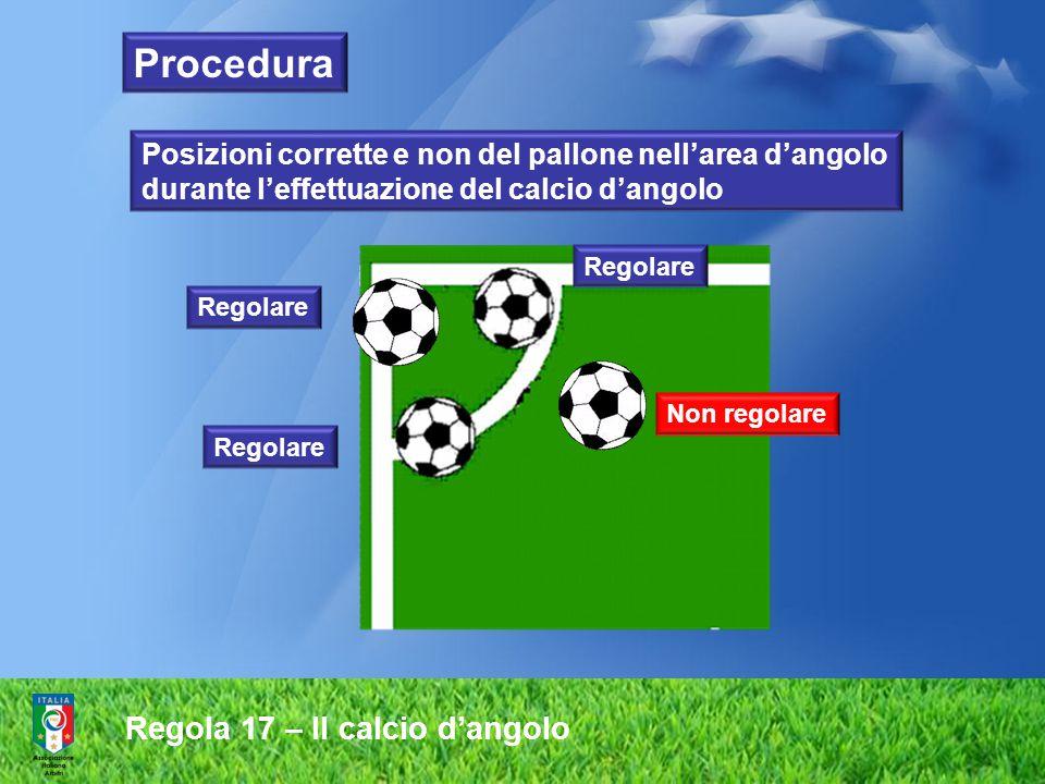 Procedura Regola 17 – Il calcio d'angolo