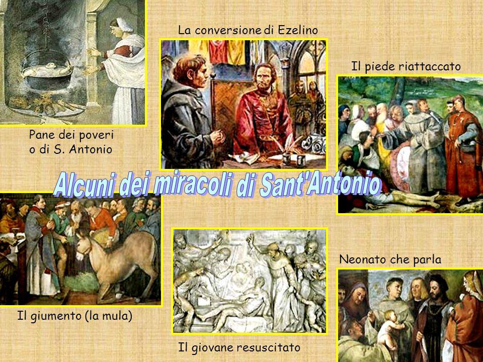 Alcuni dei miracoli di Sant Antonio