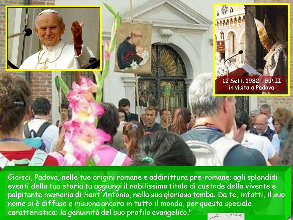 12 Sett. 1982 – G.P.II in visita a Padova