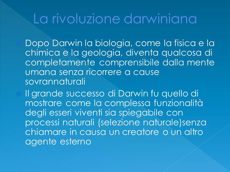 La rivoluzione darwiniana