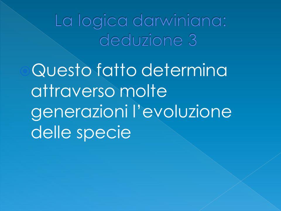 La logica darwiniana: deduzione 3