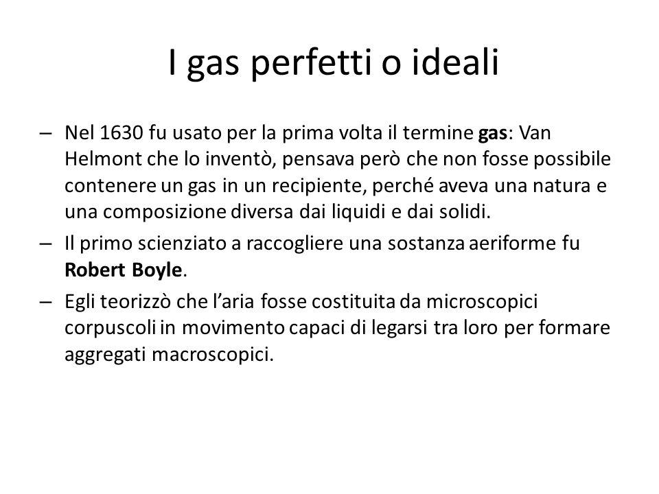 I gas perfetti o ideali
