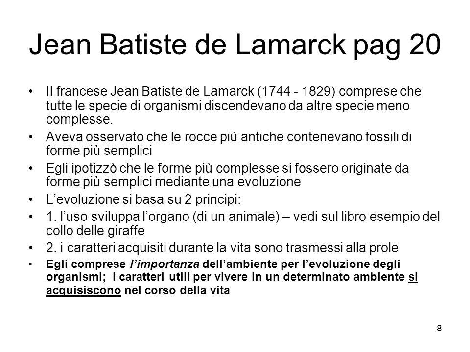 Jean Batiste de Lamarck pag 20