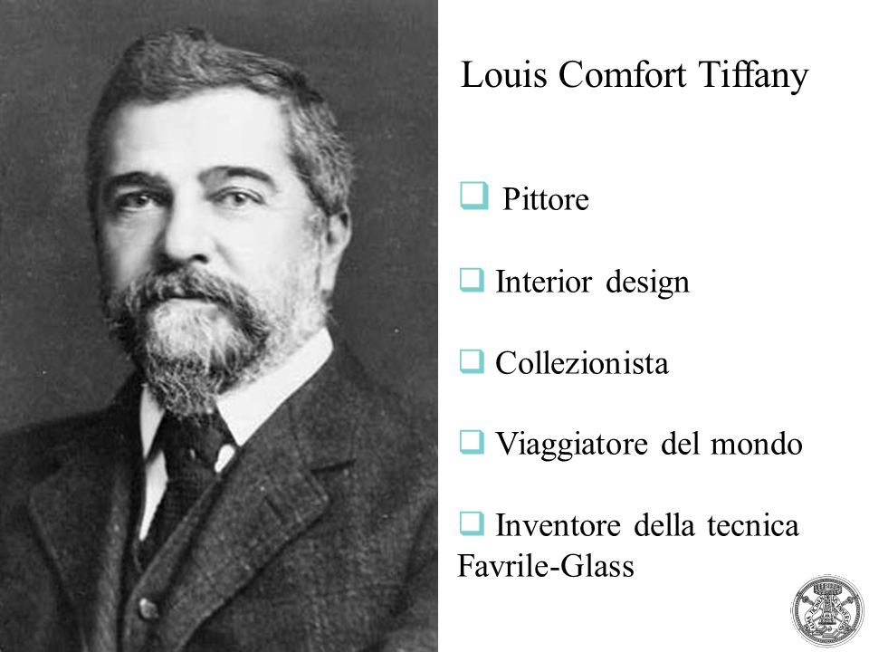 Louis Comfort Tiffany Pittore Interior design Collezionista