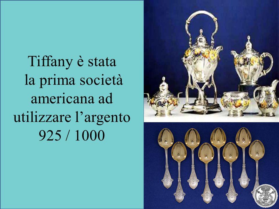 la prima società americana ad utilizzare l'argento