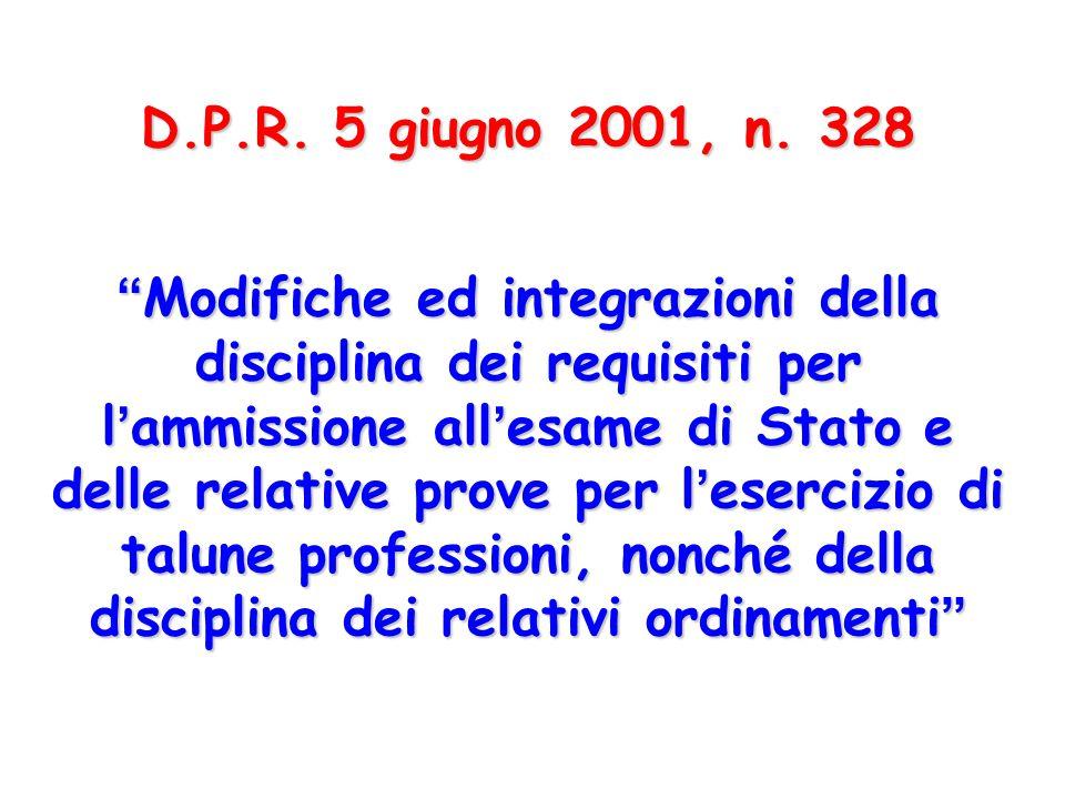 D.P.R. 5 giugno 2001, n. 328