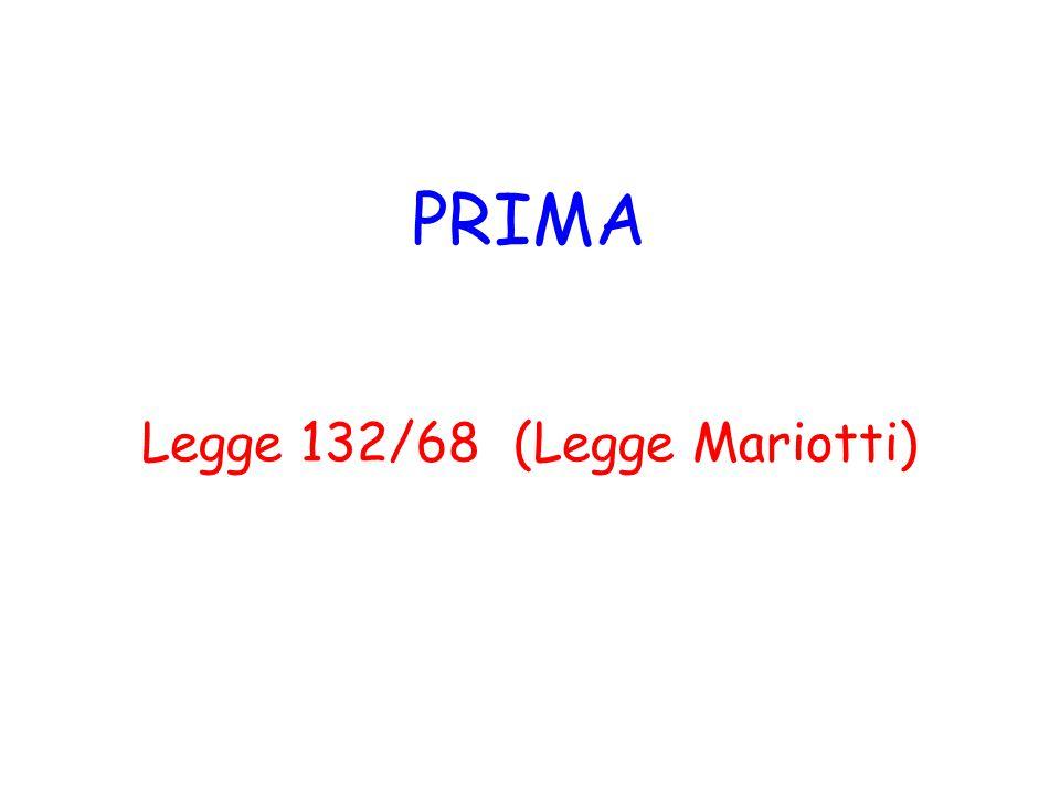 Legge 132/68 (Legge Mariotti)
