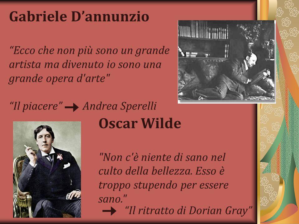 Gabriele D'annunzio Oscar Wilde