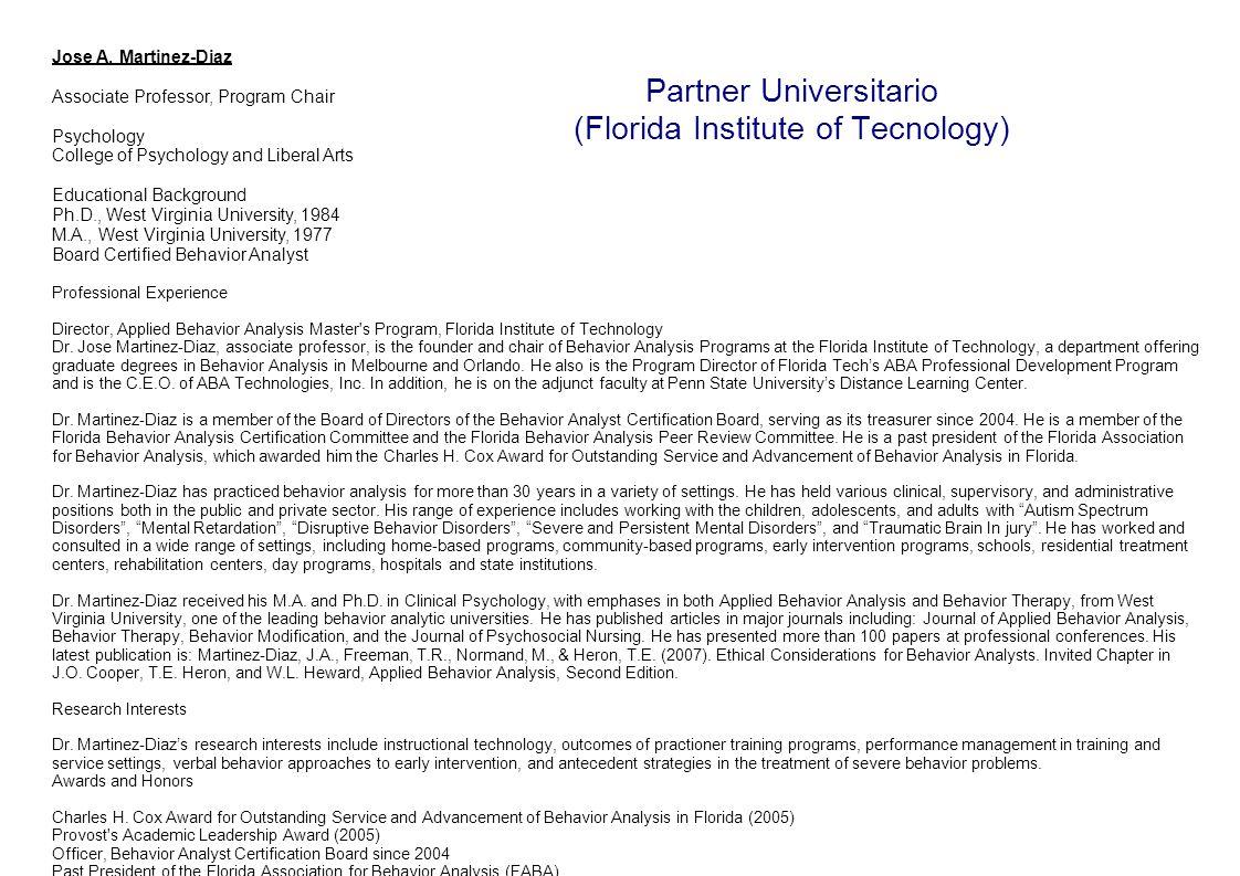 Partner Universitario (Florida Institute of Tecnology)