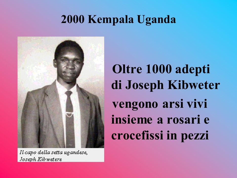 Oltre 1000 adepti di Joseph Kibweter