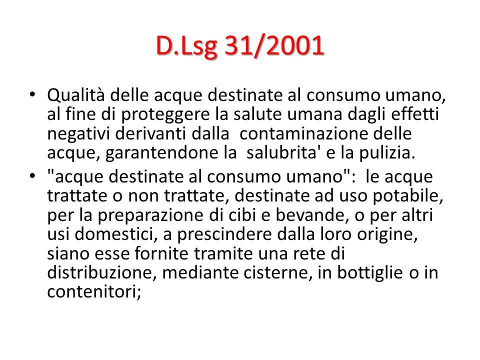 D.Lsg 31/2001