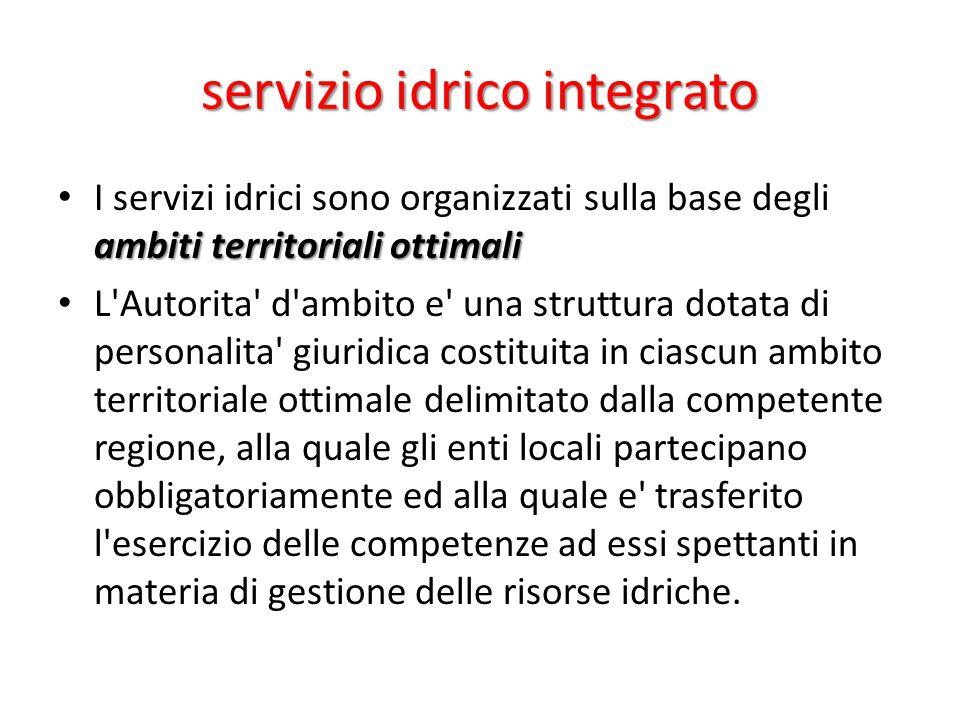 servizio idrico integrato