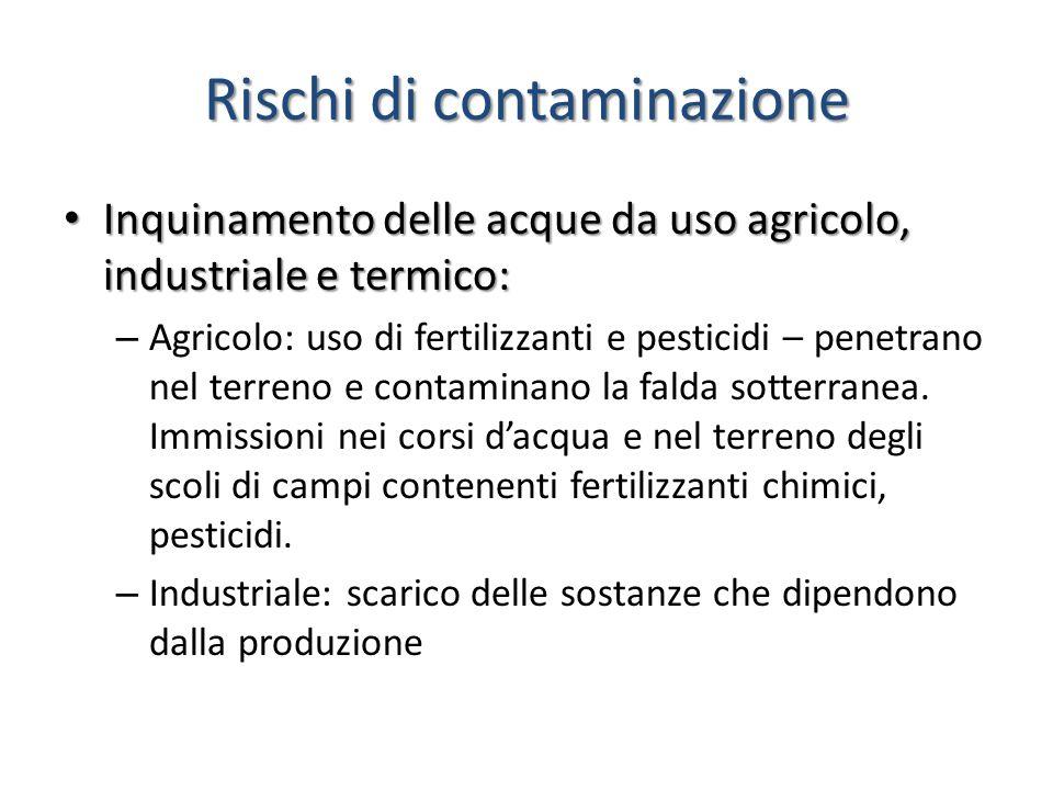 Rischi di contaminazione
