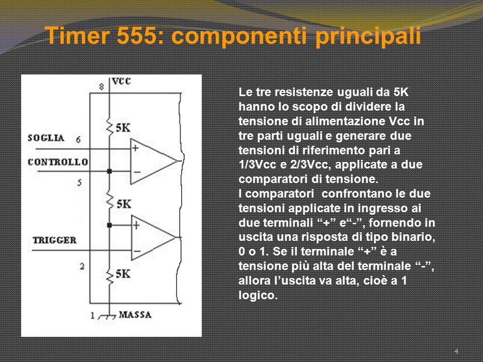 Timer 555: componenti principali