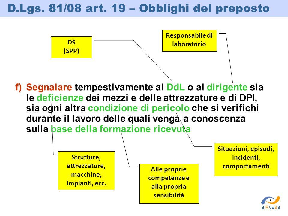 D.Lgs. 81/08 art. 19 – Obblighi del preposto