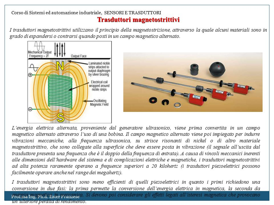 Trasduttori magnetostrittivi