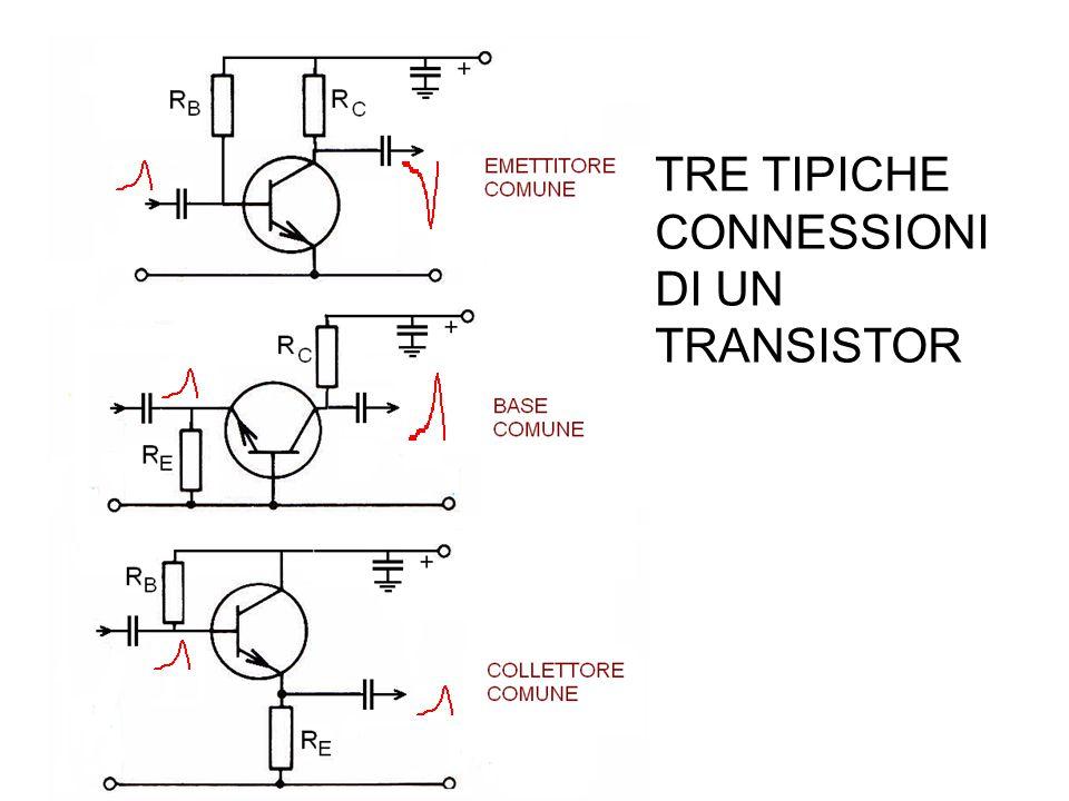 TRE TIPICHE CONNESSIONI DI UN TRANSISTOR