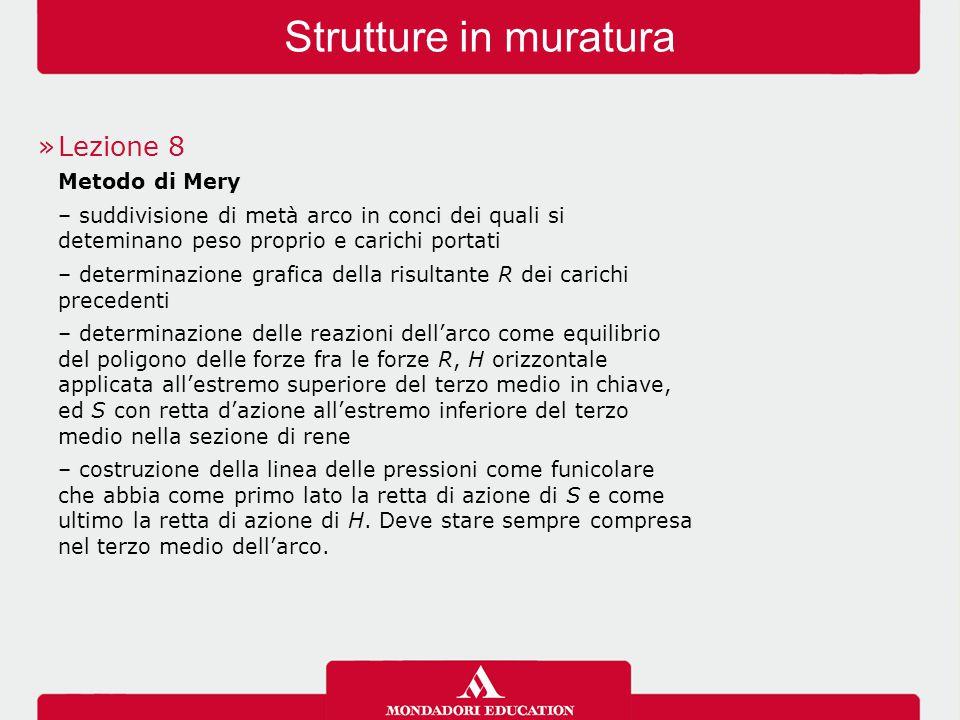 Strutture in muratura Lezione 8 Metodo di Mery