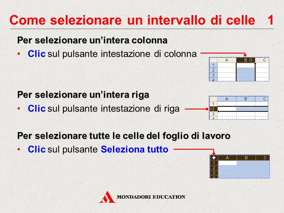 Come selezionare un intervallo di celle 1