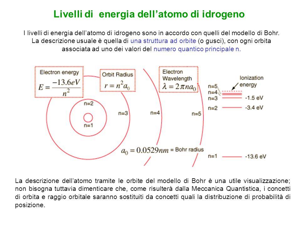 Livelli di energia dell'atomo di idrogeno