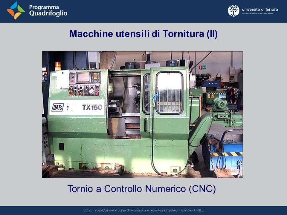 Macchine utensili di Tornitura (II)