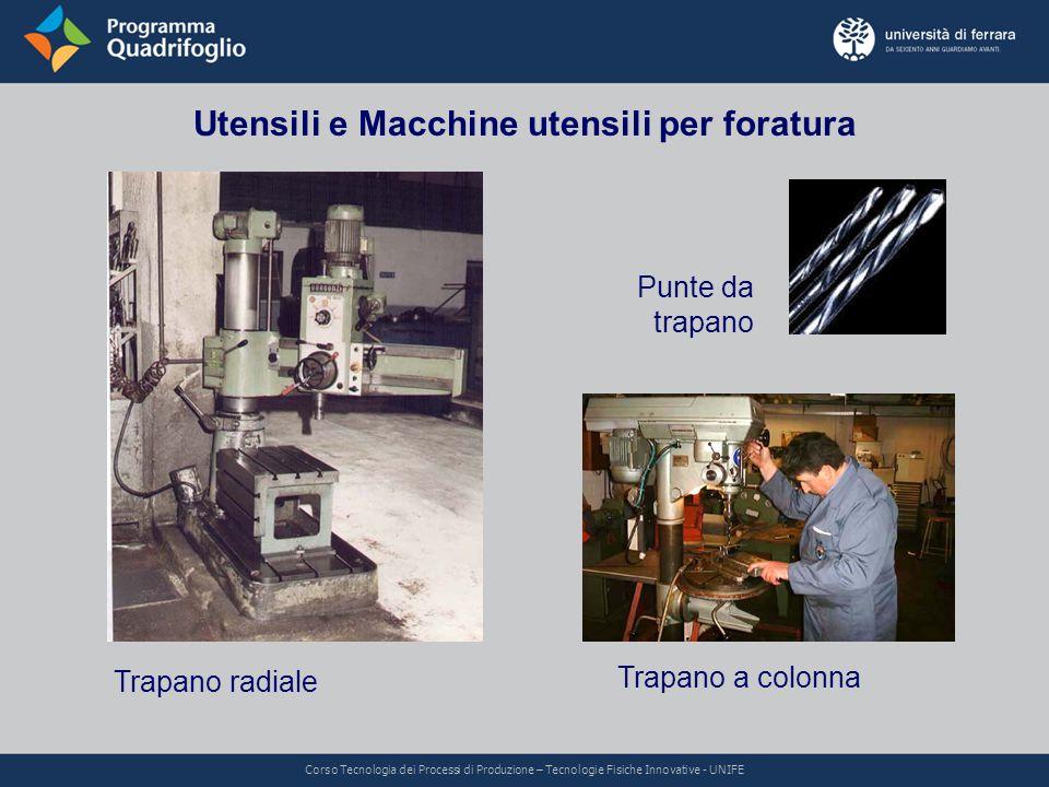 Utensili e Macchine utensili per foratura