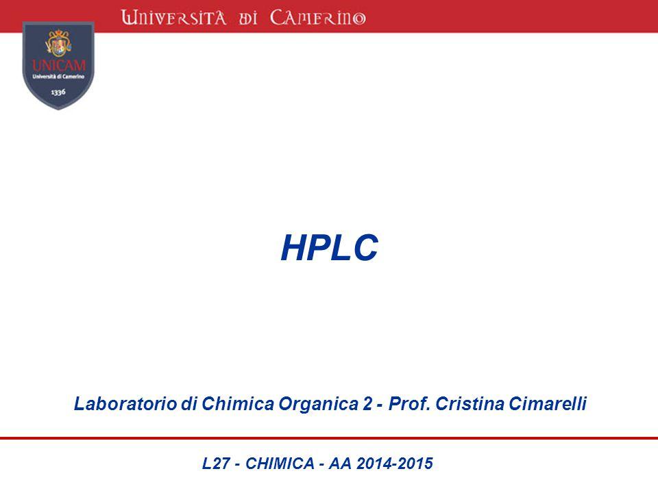 HPLC Laboratorio di Chimica Organica 2 - Prof. Cristina Cimarelli