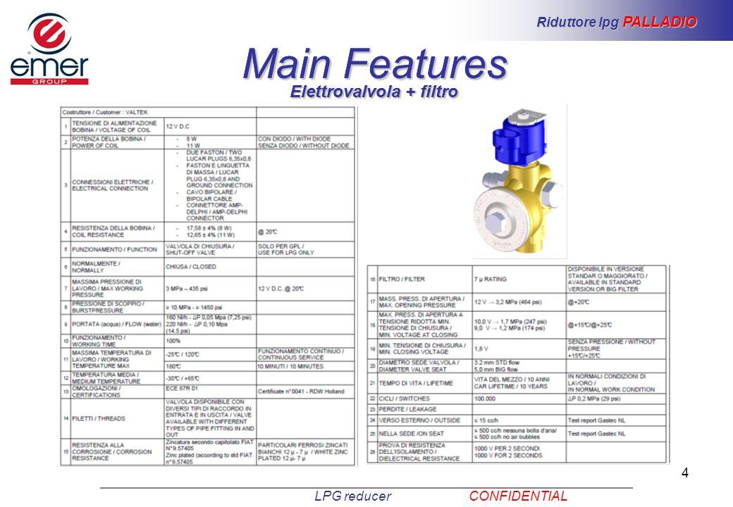Riduttore lpg PALLADIO Elettrovalvola + filtro Elettrovalvola + filtro