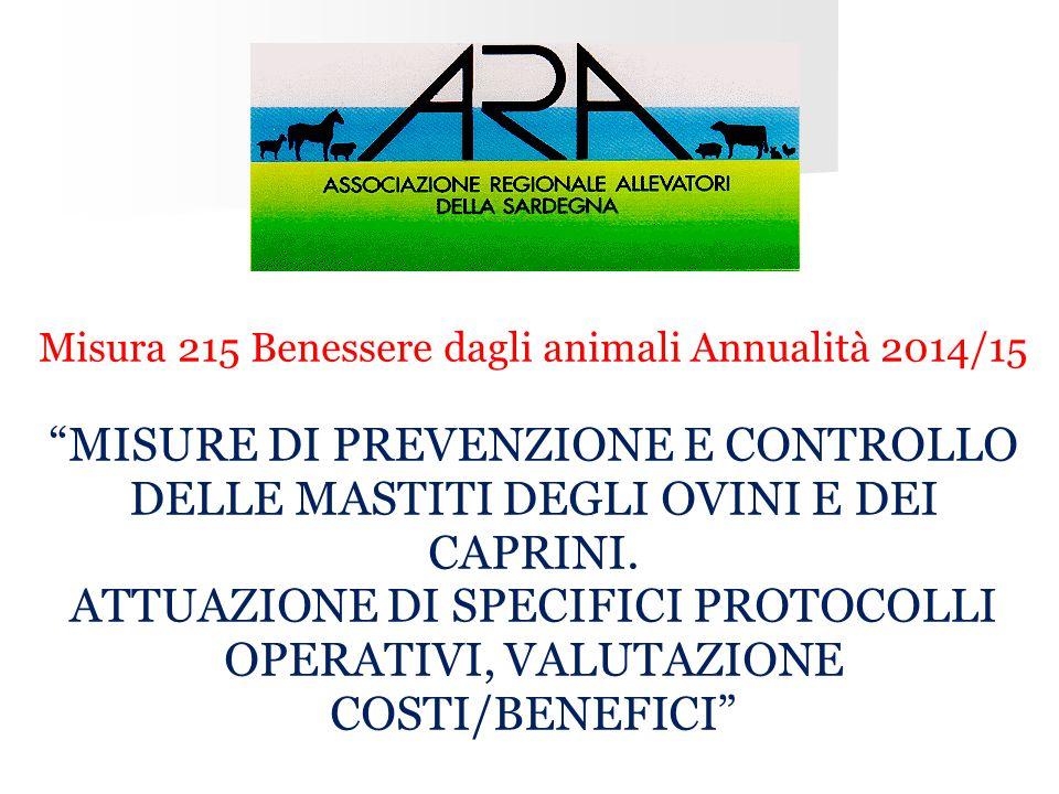 Misura 215 Benessere dagli animali Annualità 2014/15
