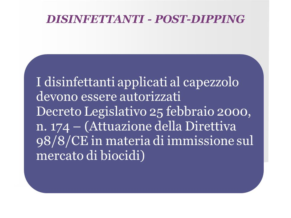 DISINFETTANTI - POST-DIPPING