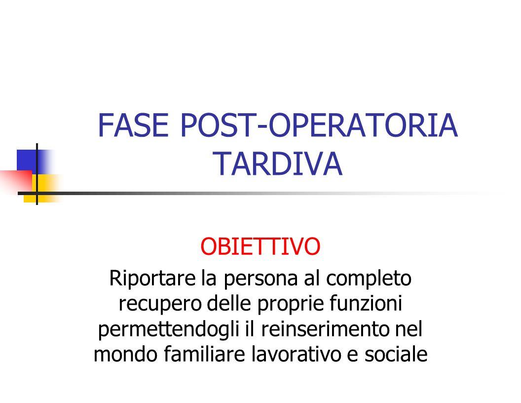 FASE POST-OPERATORIA TARDIVA