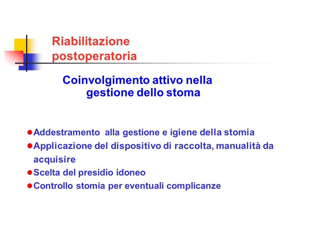 Coinvolgimento attivo nella gestione dello stoma