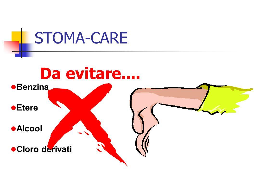 STOMA-CARE Da evitare.... Benzina Etere Alcool Cloro derivati