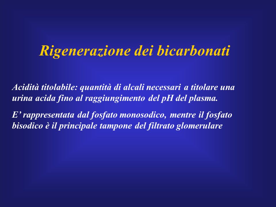 Rigenerazione dei bicarbonati