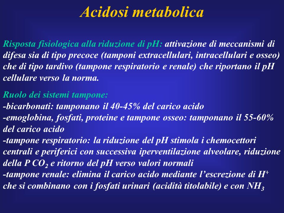Acidosi metabolica