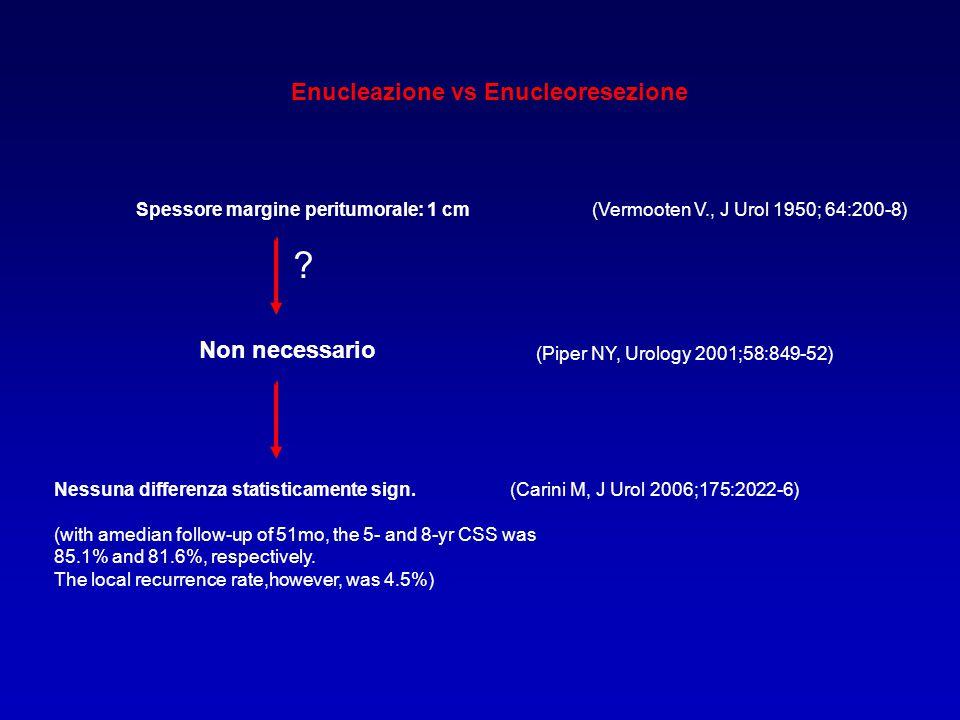 3434 Enucleazione vs Enucleoresezione Non necessario