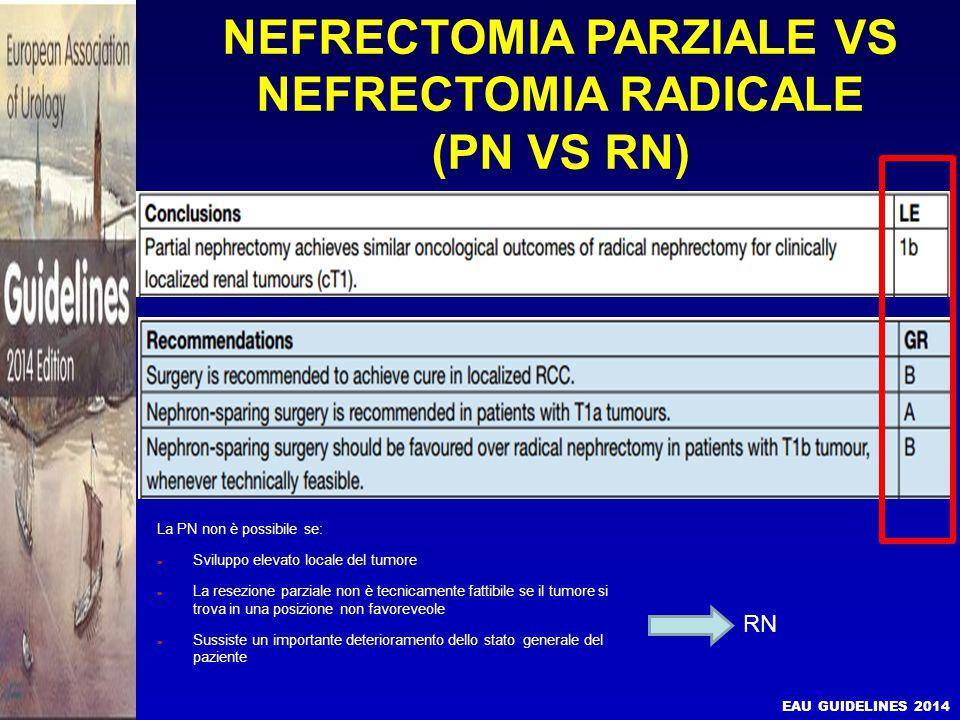 NEFRECTOMIA PARZIALE VS NEFRECTOMIA RADICALE