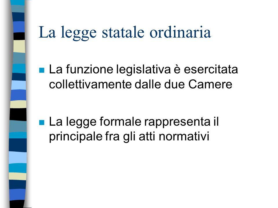 La legge statale ordinaria